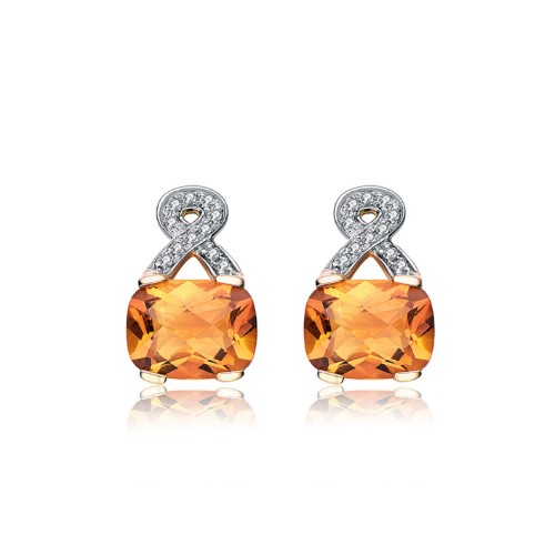 Golden Topaz Diamond Earrings group