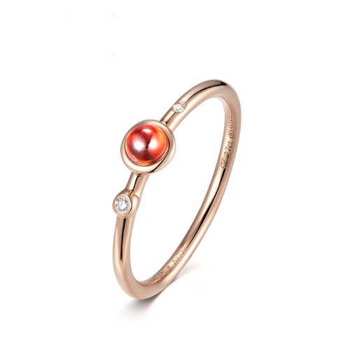 Rose gold color gold red tourmaline Nvjie
